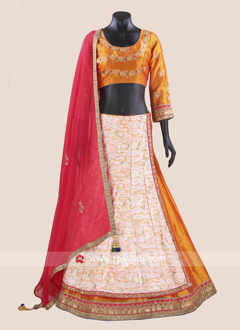 Foil Print Chaniya Choli for Navratri