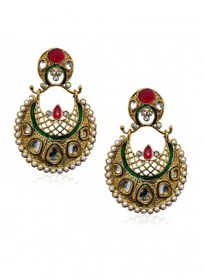 Fresh Multicolored Traditional Earrings