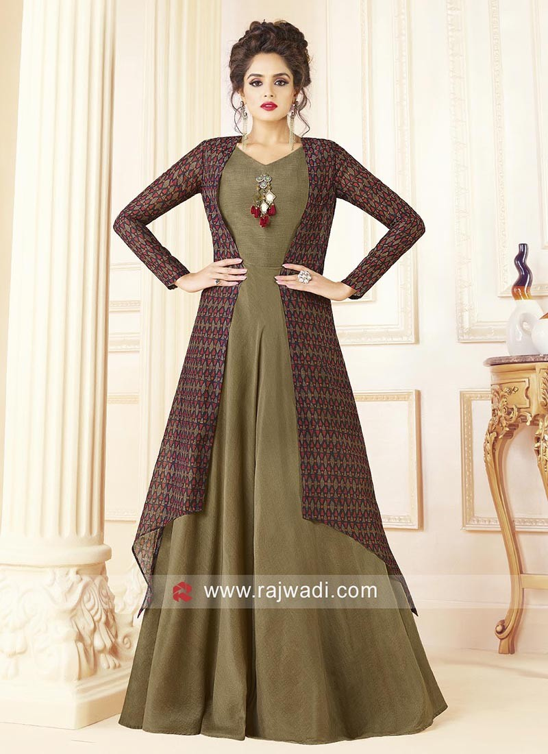 Full Length Cotton Gown with Jacket