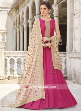 Full Length Cotton Silk Anarkali Suit