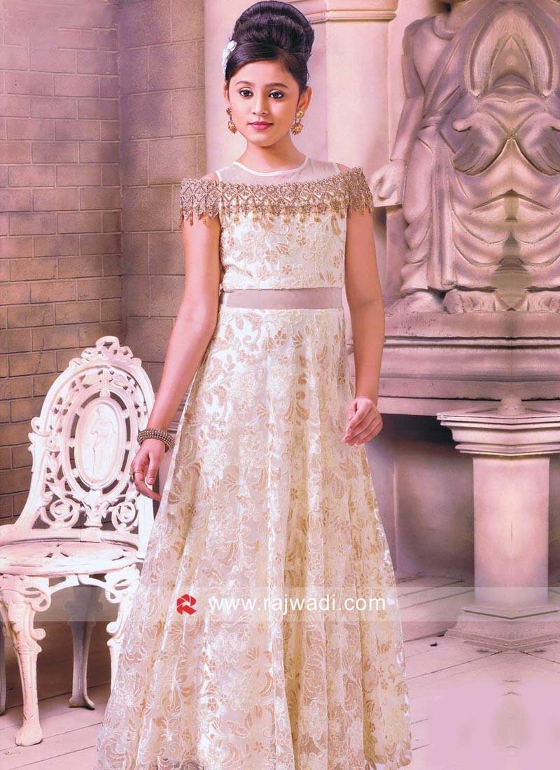 Full Length Cream Gown