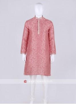 gajari pink and off white kurta pajama
