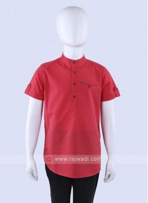 Gajari Pink Cotton Shirt