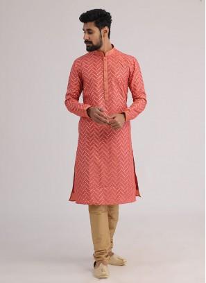 Gajari Pink Gota Patti Work Kurta Pajama