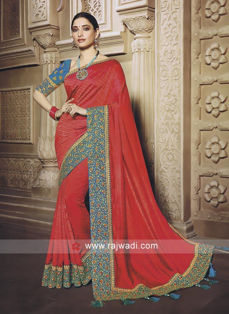 Gajari Pink saree with blouse