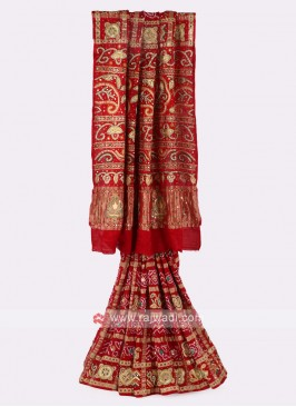 Gaji Silk Red Saree