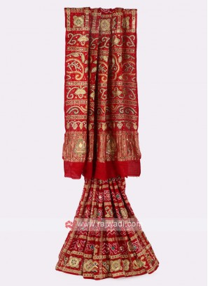 Gaji Silk Red Saree