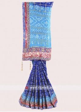 Gajji Silk Bandhani Saree
