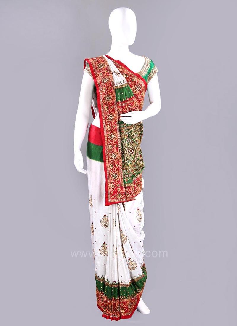 Gajji Silk Bridal Patola Sari with Blouse Piece
