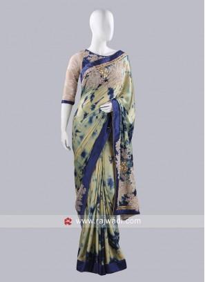 Gajji Silk Designer Choli Saree