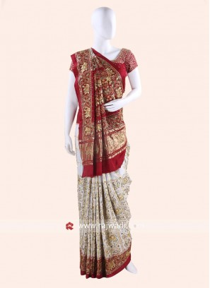 Gajji Silk Designer Panetar Saree for Bride