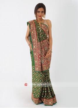Gajji Silk Green Saree