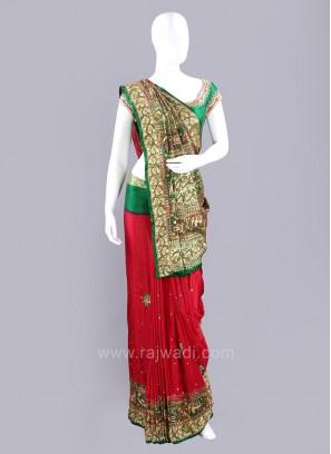 Gajji Silk Gujarati Patola Saree