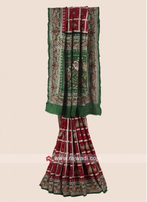 Gajji Silk Heavy Gharchola Saree with Blouse