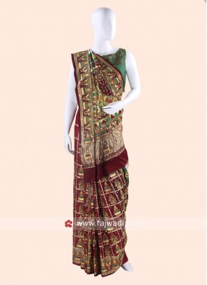 Gajji Silk Wedding Panetar Saree