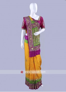 Gajji Silk Wedding Saree with Blouse
