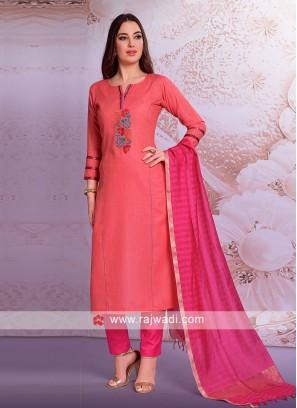 Gajari Pink Trouser Suit