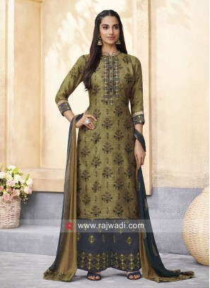 Gath Work Printed Palazzo Suit