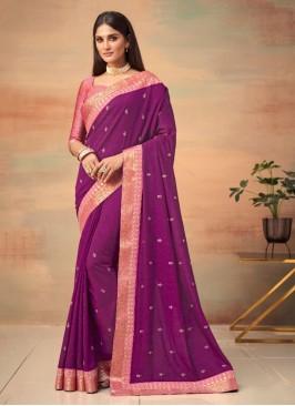 Genius Woven Vichitra Silk Traditional Designer Saree