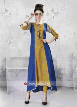 Geometric Block Print Cotton Layered Kurti