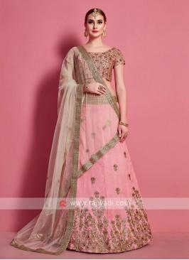 Georgeous Light Pink Color Lehenga Choli