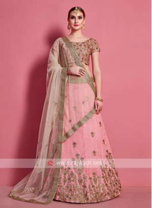 Georgeous Light Pink Color Lehenga Choli