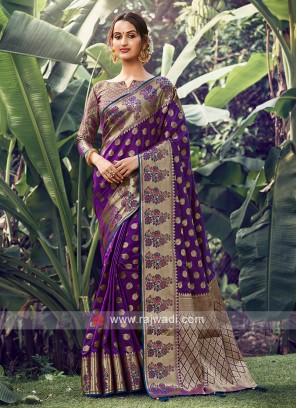 Georgeous Purple Color Saree