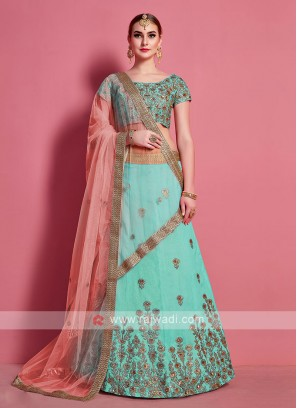 Georgeous Sea Green Color Lehenga Choli