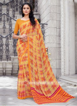 Georgette Casual Printed Sari