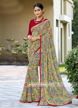 Georgette Casual Sari