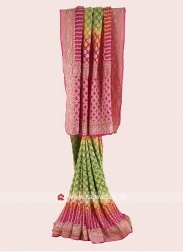 Georgette Chiffon Bandhani Saree