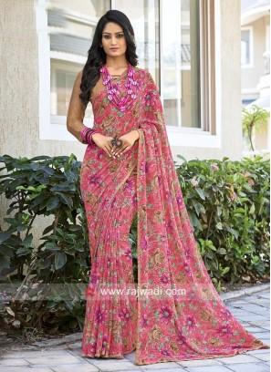Georgette Designer Light Weight Sari