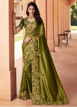 Georgette Designer Saree in Green