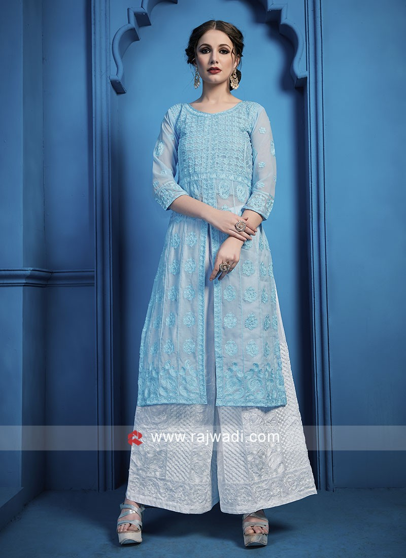 Georgette Fabric Palazzo Suit