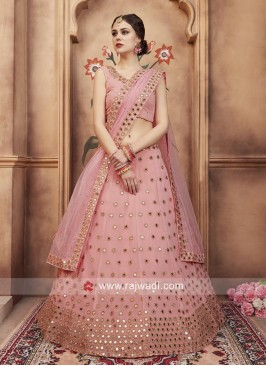 Georgette Light Pink Lehenga Choli