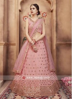 Georgette Light Pink Lehenga Choli
