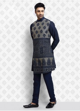 Thread Work Kurta Pajama For Wedding