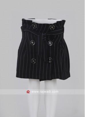 Girls Black Short Skirt