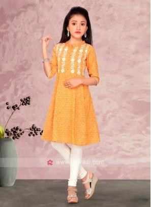 Girls Cotton Kurti Suit