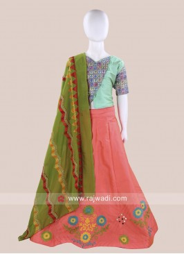 Girls Cotton Silk Chaniya Choli