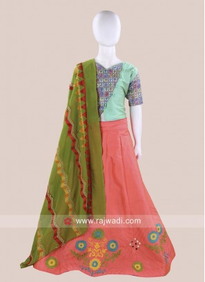 Girls Cotton Silk Chaniya Choli