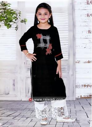 Girls Cotton Silk Salwar Kameez