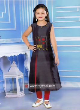 Girls Cotton Silk Salwar Kameez
