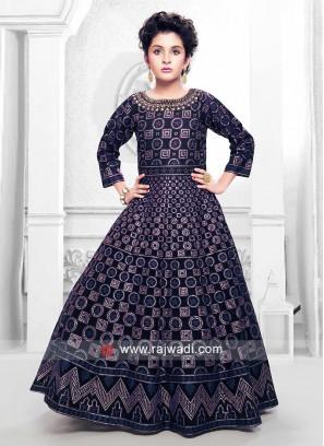 Girls Designer Floor Length Gown