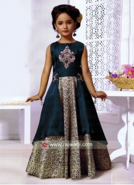 Girls Designer Layer Gown