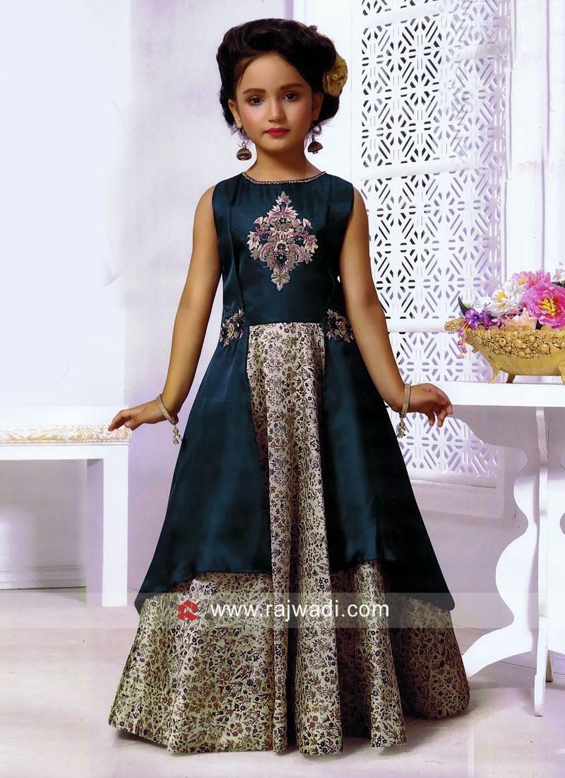 Girls Designer Layer Gown