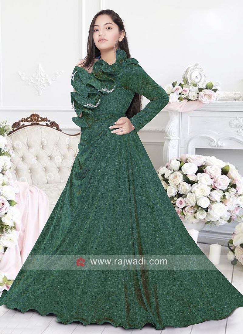 Girls Designer Shimmer fabric Gown