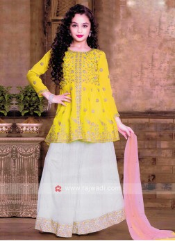 Girls Embroidered Choli  Suit