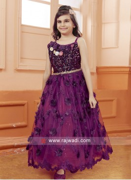 Girls Embroidered Gown for Wedding