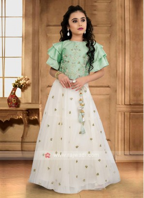 Girls Embroidery Choli Suit